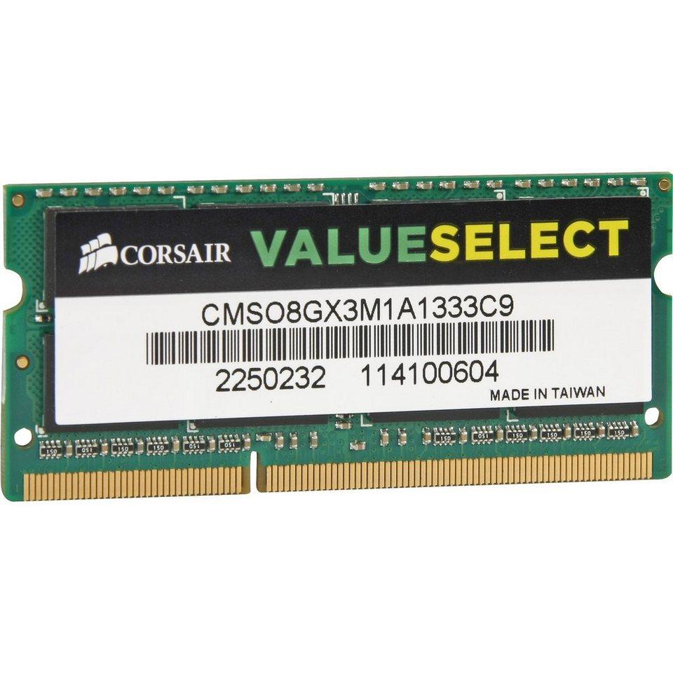 Corsair ValueSelect Arbeitsspeicher »SO-DIMM 8 GB DDR3-1333«
