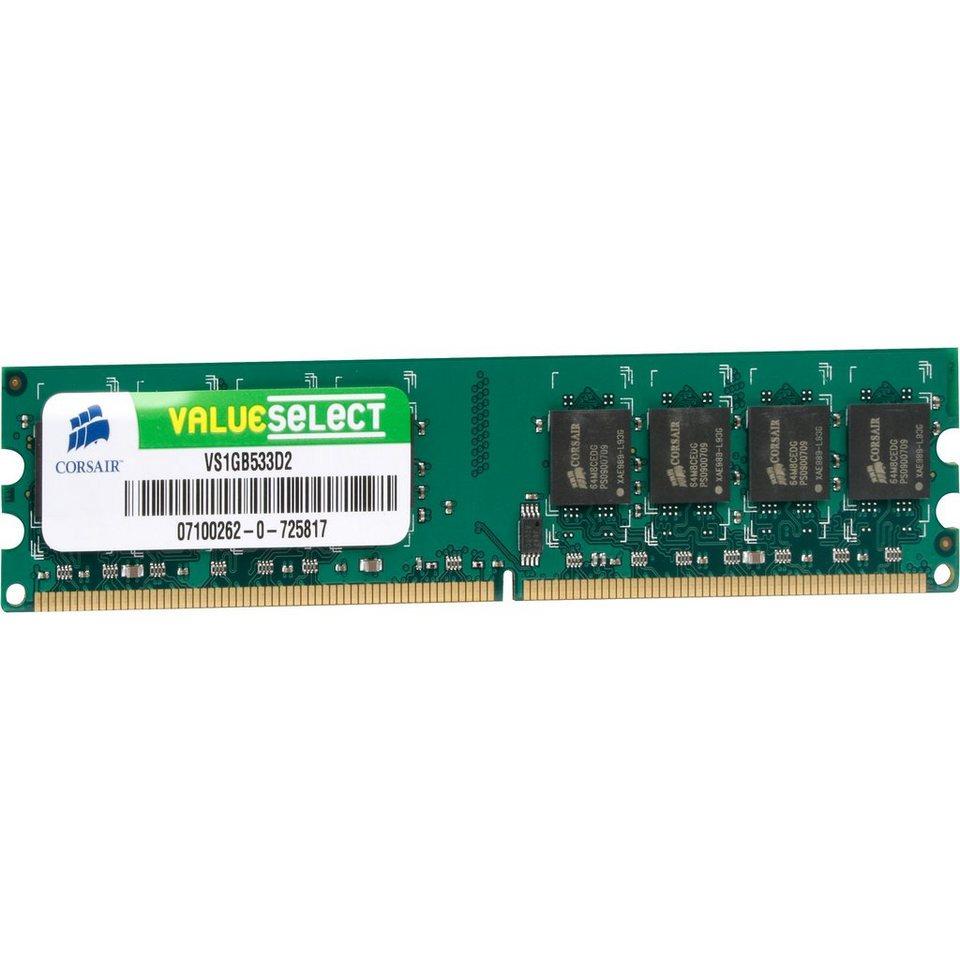 Corsair ValueSelect Arbeitsspeicher »DIMM 1 GB DDR2-533«