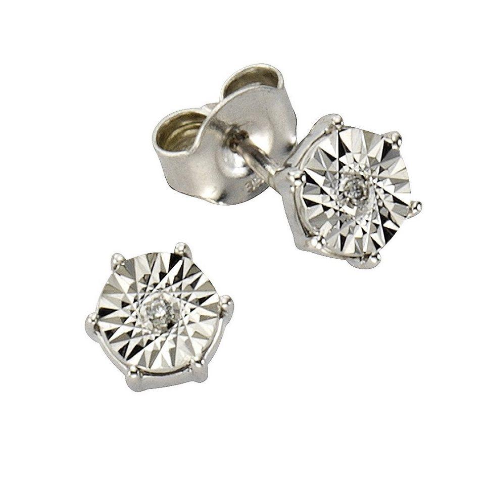 Diamonds by Ellen K. Ohrstecker »333/- Weißgold Brillant 0,02ct.« in weiß