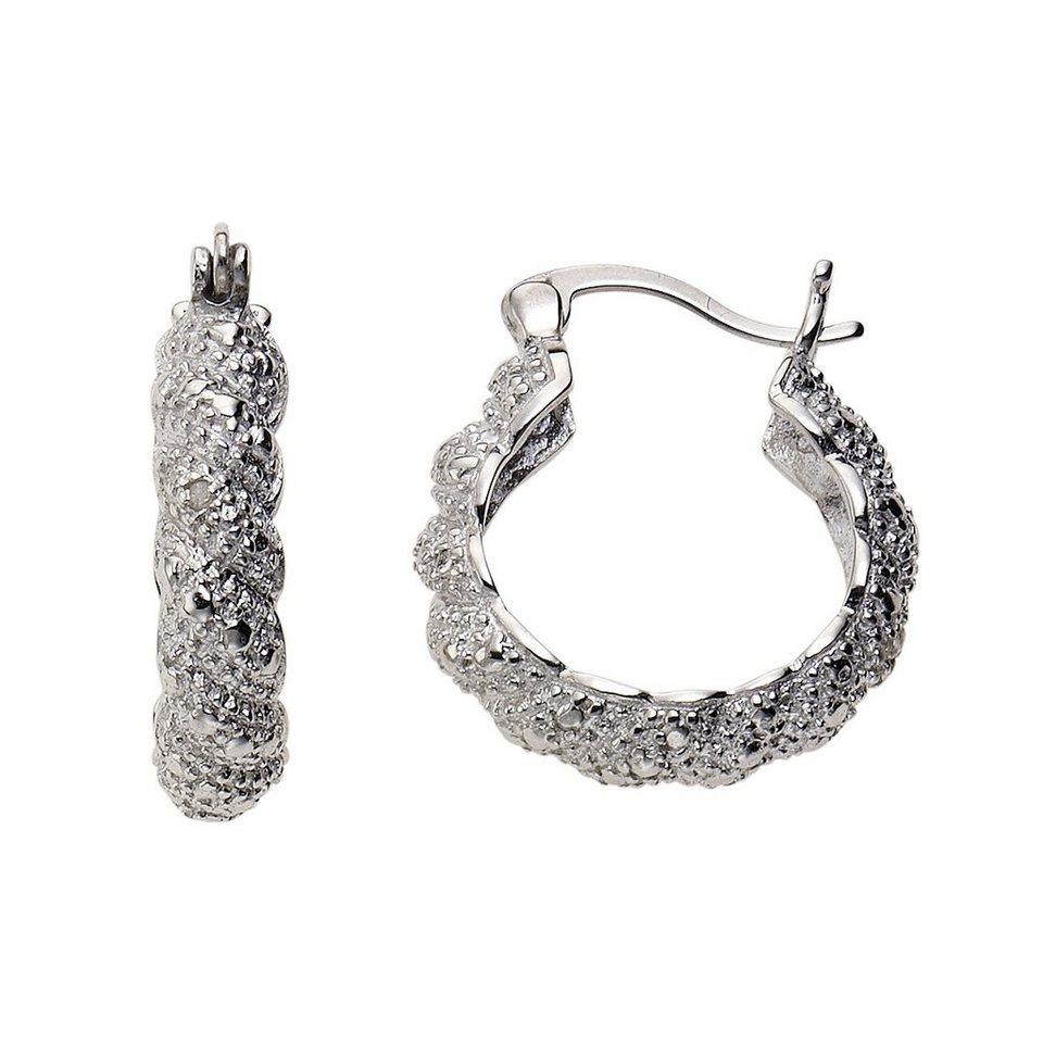 Diamonds by Ellen K. Creolen »925/- Sterling Silber Diamant 0,01ct.« in weiß