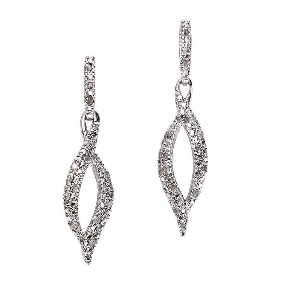 Diamonds by Ellen K. Ohrhänger »925/- Sterling Silber Diamant 0,01ct.« in weiß