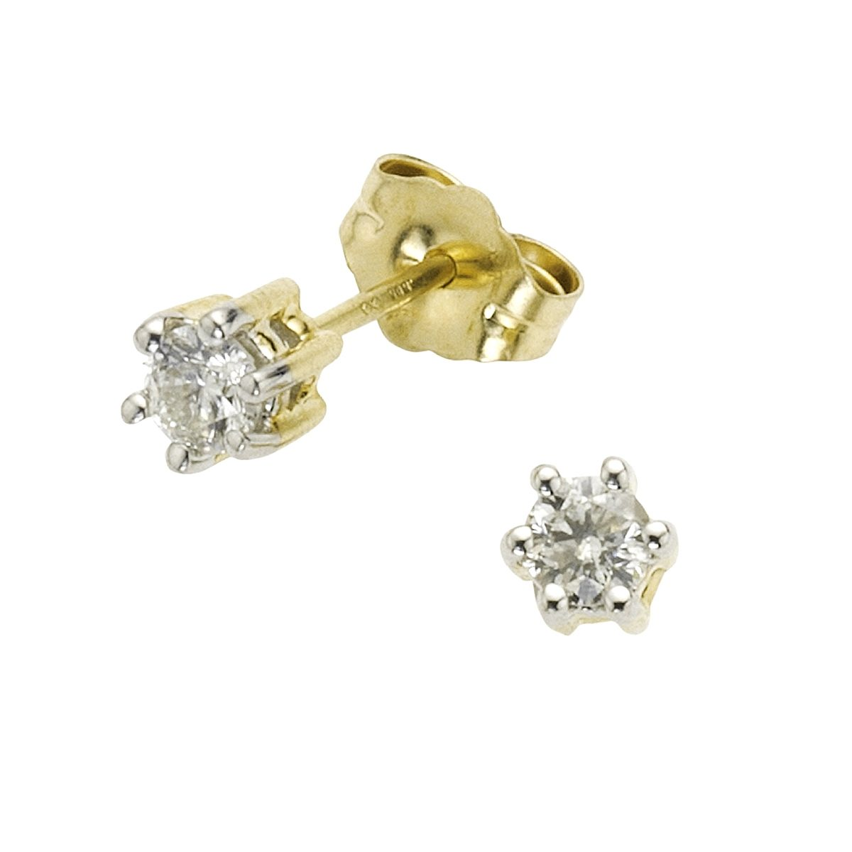 Diamonds by Ellen K. Ohrstecker »585/- Gold bicolor Brillant 0,26ct.«