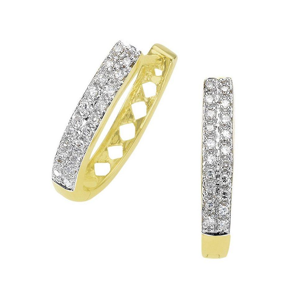 Diamonds by Ellen K. Creolen »585/- Gold bicolor Diamant 0,20ct.« in gelb
