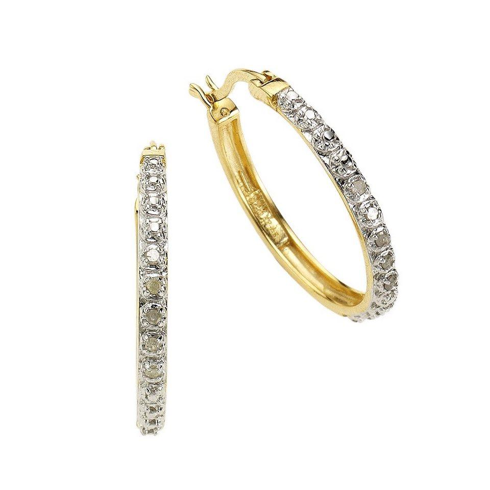 Diamonds by Ellen K. Creolen »925/- Sterling Silber Diamant 0,106ct.« in gelb