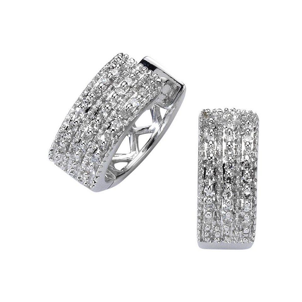 Diamonds by Ellen K. Creolen »585/- Weißgold Diamant 0,15ct.« in weiß
