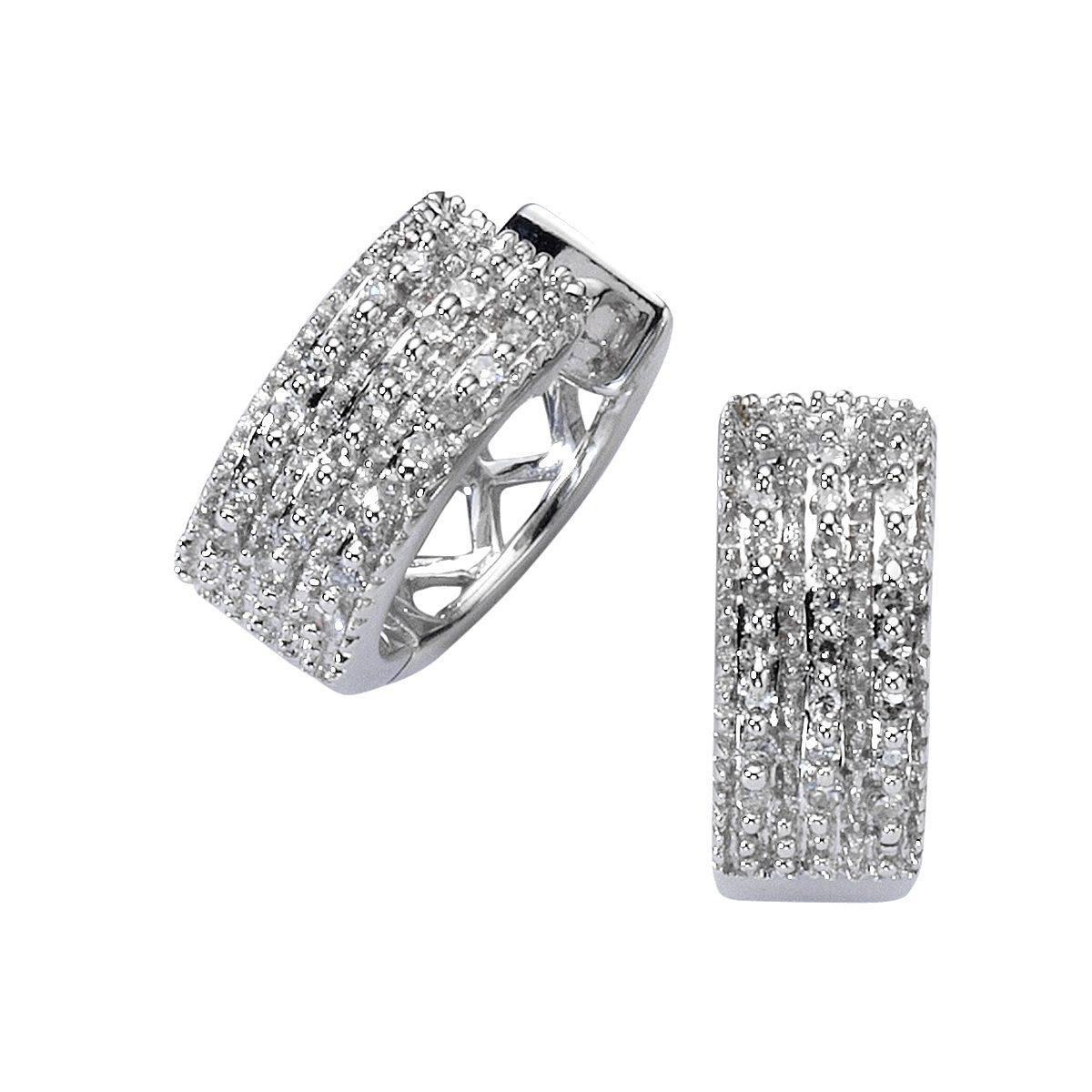 Diamonds by Ellen K. Creolen »585/- Weißgold Diamant 0,15ct.«