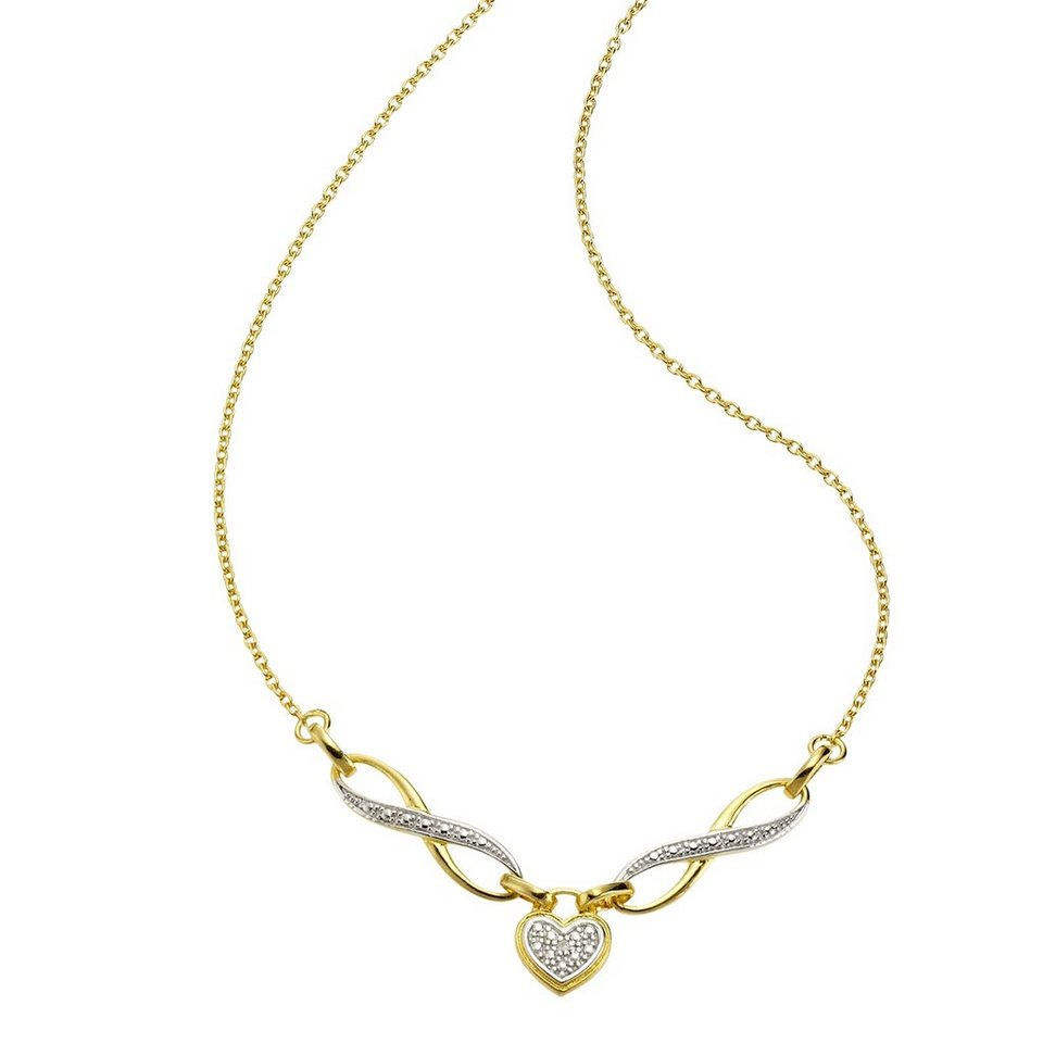 Diamonds by Ellen K. Collier »925/- Sterling Silber Diamant 0,01ct.« in gelb
