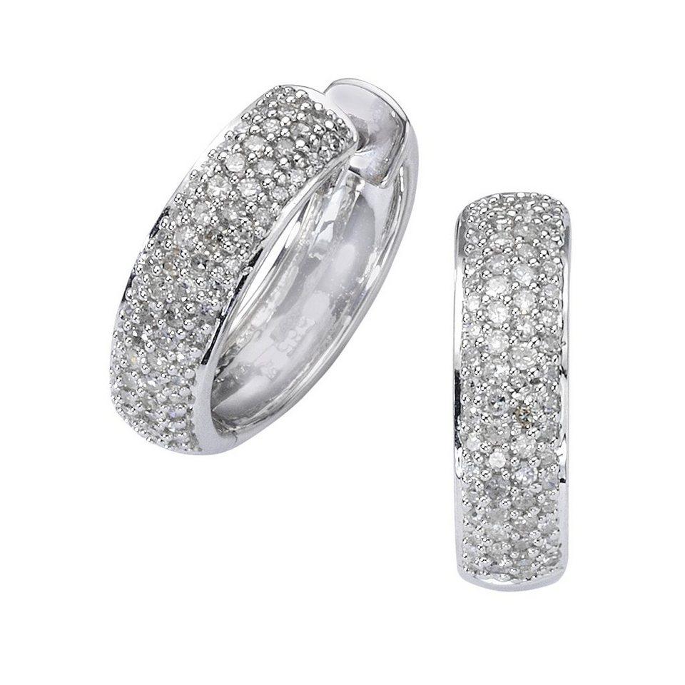 Diamonds by Ellen K. Creolen »585/- Weißgold Diamant 0,50ct.« in weiß