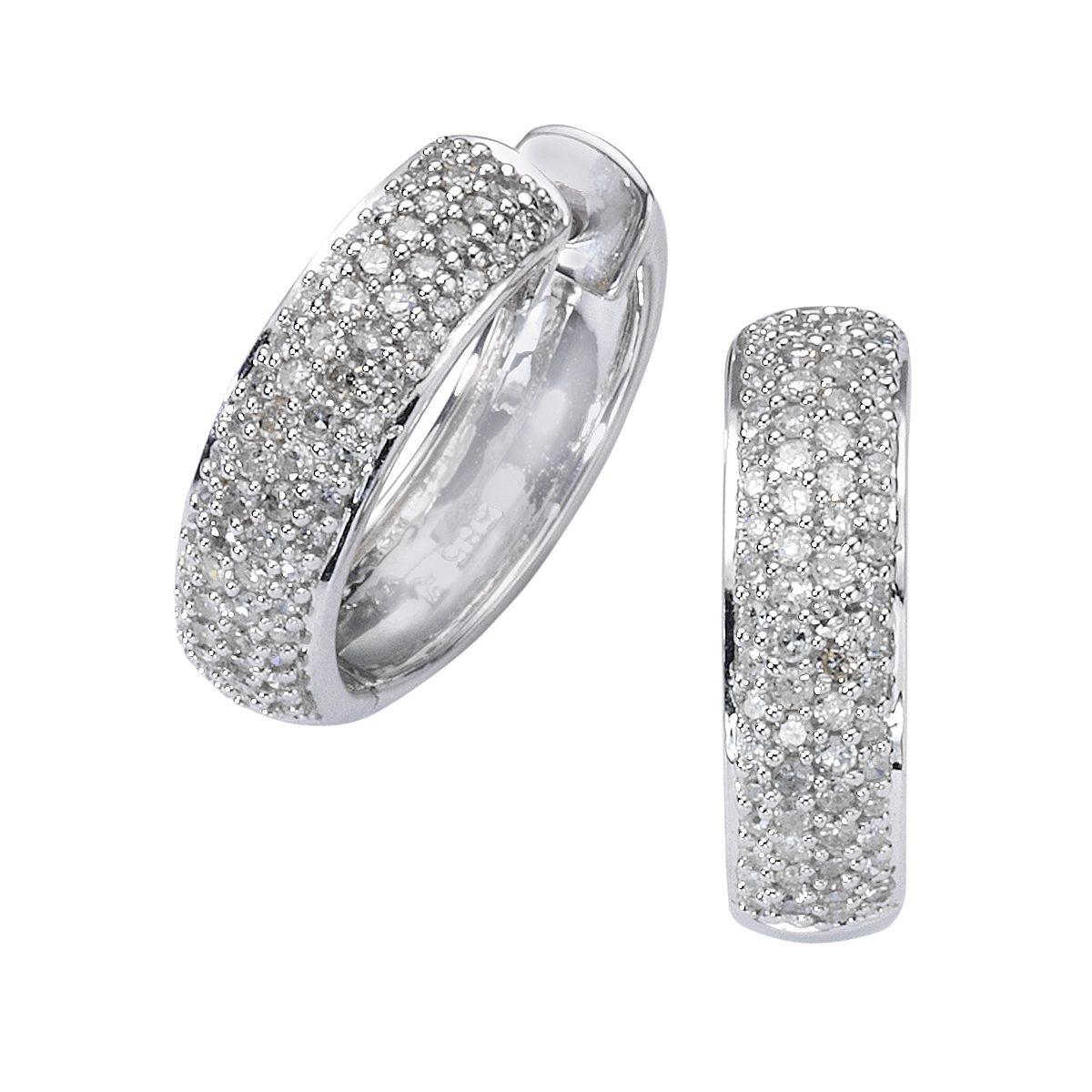 Diamonds by Ellen K. Creolen »585/- Weißgold Diamant 0,50ct.«