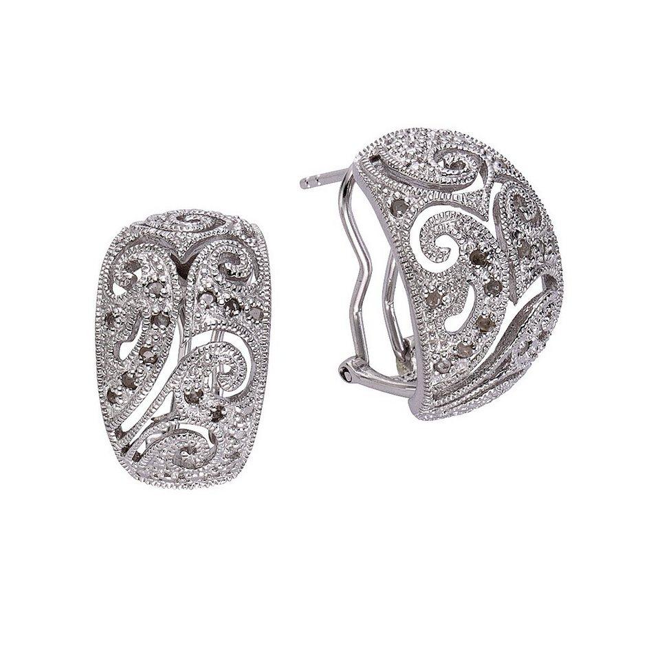 Diamonds by Ellen K. Ohrstecker »925/- Sterling Silber Diamant 0,26ct.« in weiß