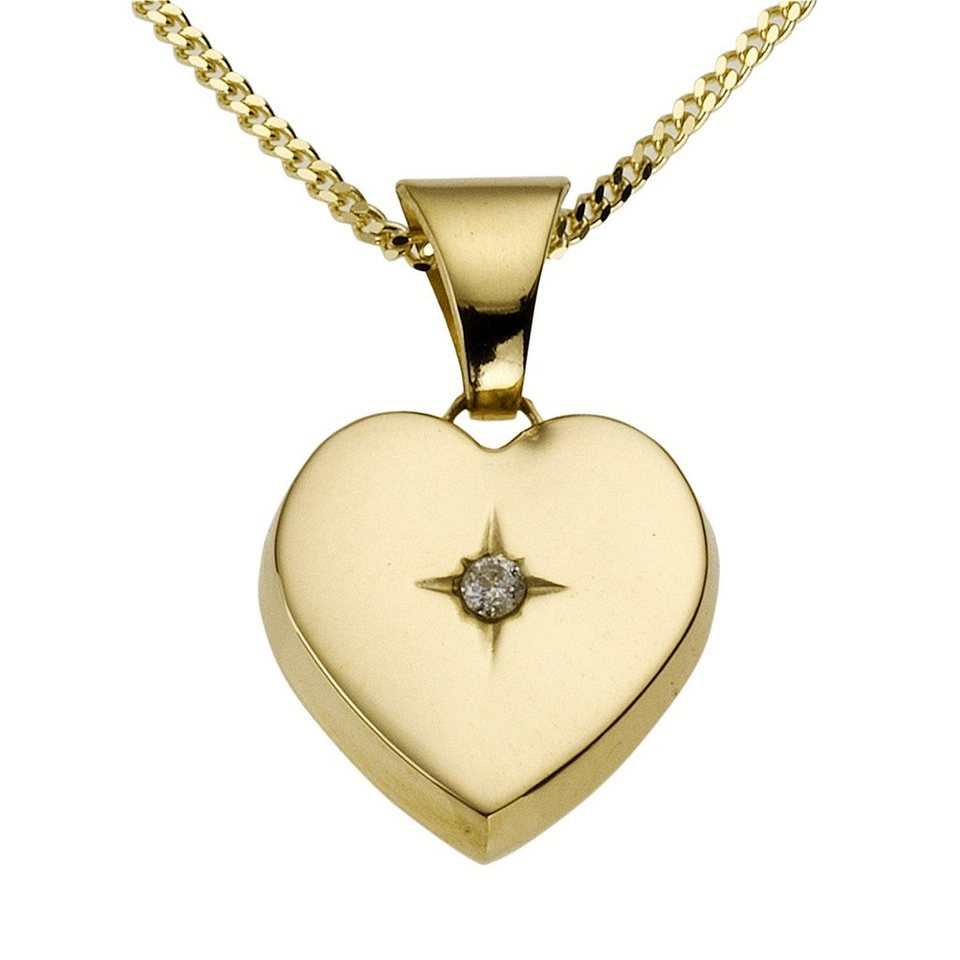 Diamonds by Ellen K. Anhänger mit Kette »585/- Gelbgold Brillant 0,01ct.« in gelb