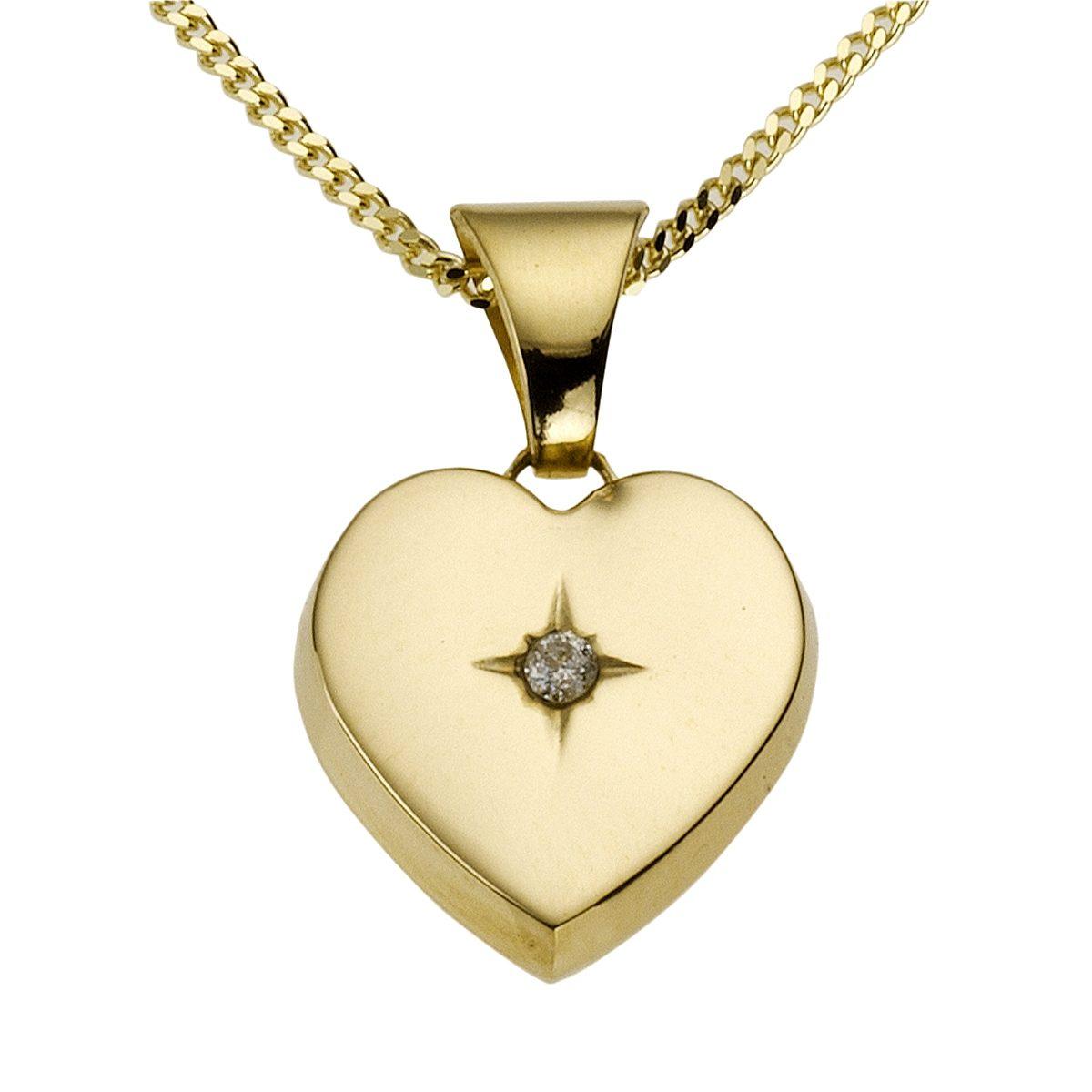 Diamonds by Ellen K. Anhänger mit Kette »585/- Gelbgold Brillant 0,01ct.«