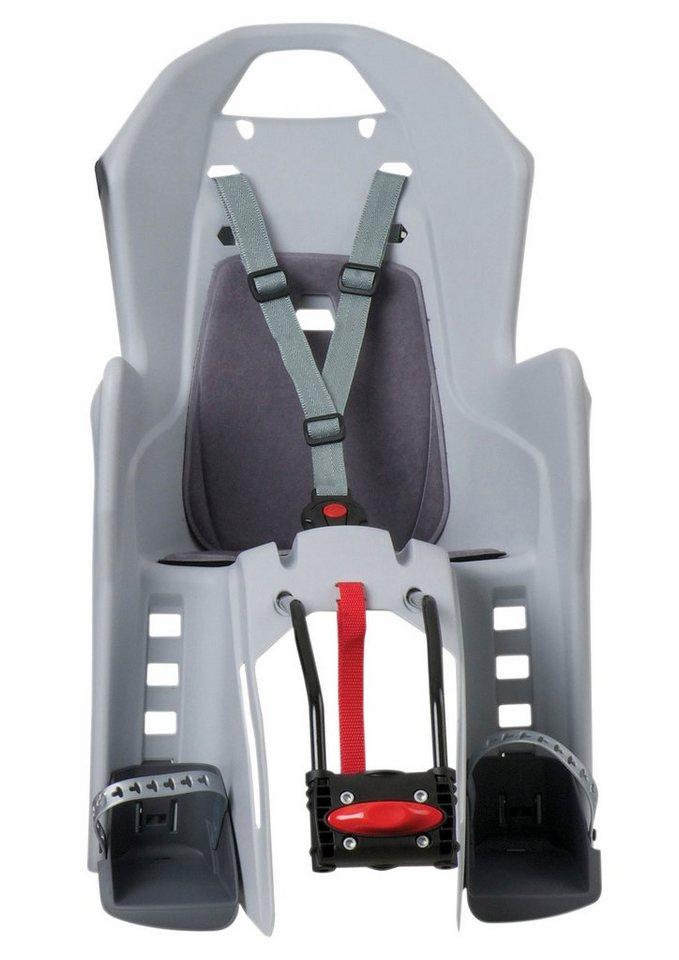 Polisport Fahrrad Kindersitz, silbergrau, »Koolah«