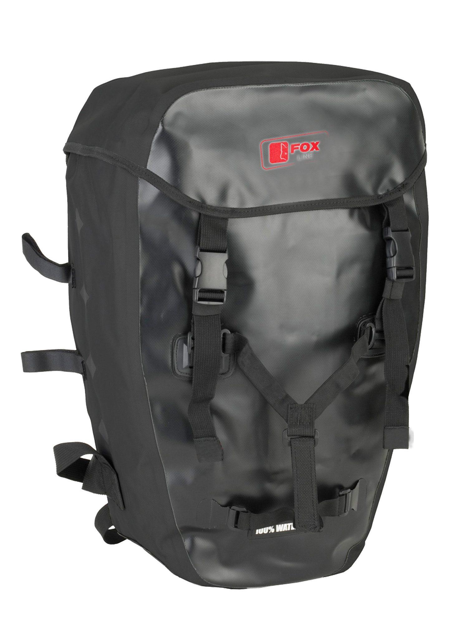 Fox Line Fahrradrucksack für Gepäckträger, schwarz