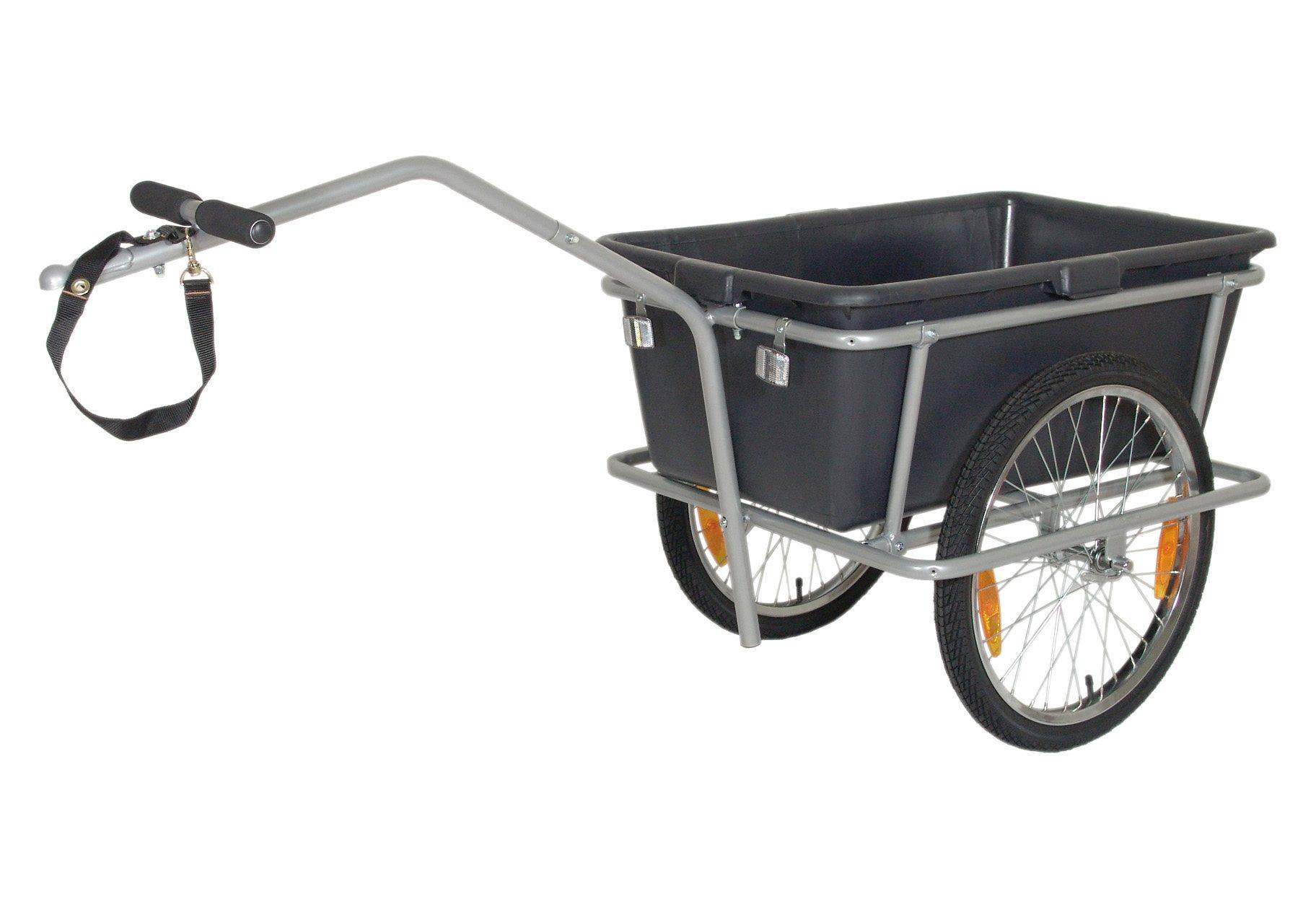 Blue Bird Fahrrad Lastenanhänger, 20 Zoll, schwarz-grau, »Big Cargo Trailer«