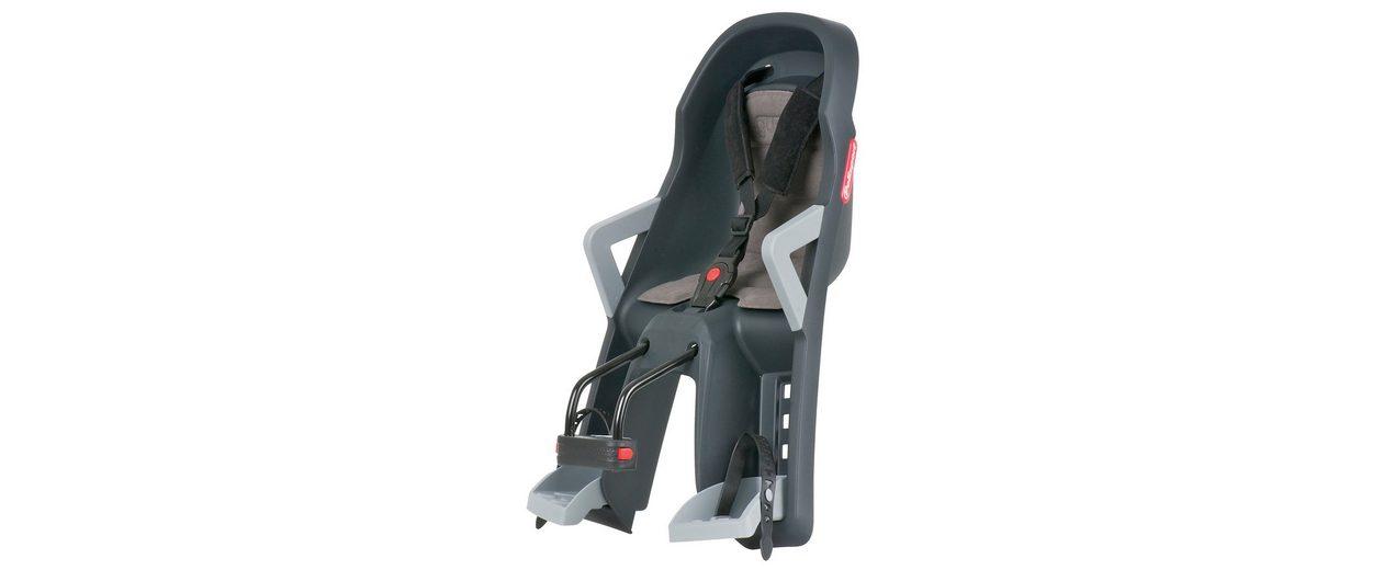 Polisport Fahrrad Kindersitz, dunkelgrau-grau, »Guppy Mini«