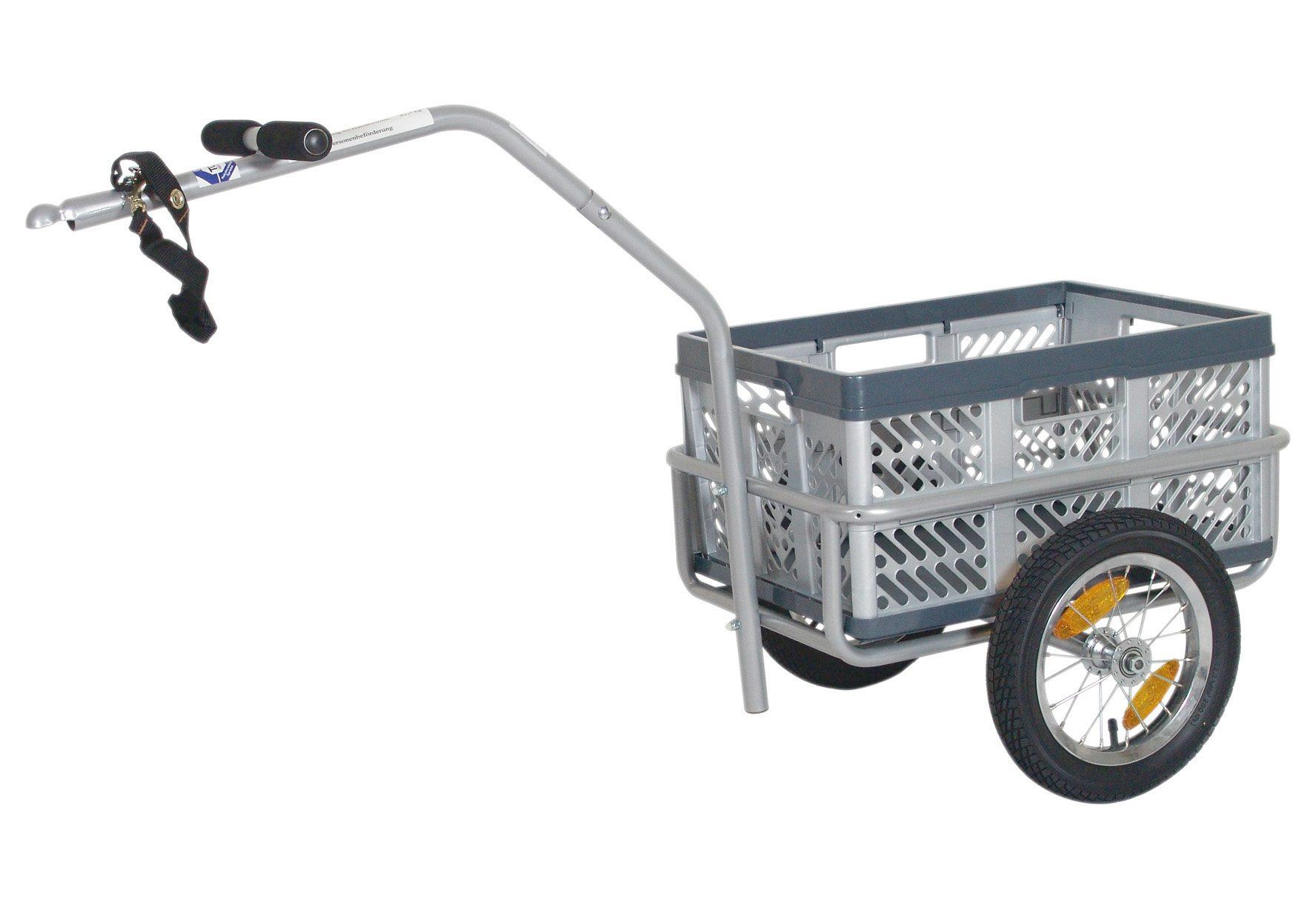 Blue Bird Fahrrad Lastenanhänger, 12 Zoll, grau, »Small Cargo Trailor«
