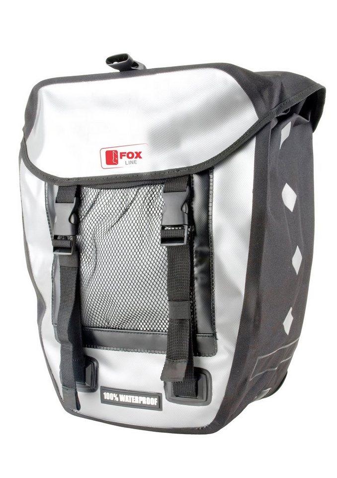 Fox Line Fahrradtasche für Gepäckträger. schwarz-grau