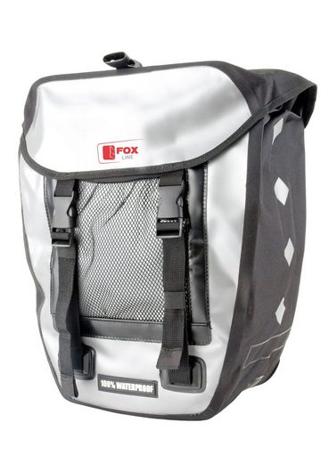 fox line fahrradtasche f r gep cktr ger schwarz grau. Black Bedroom Furniture Sets. Home Design Ideas