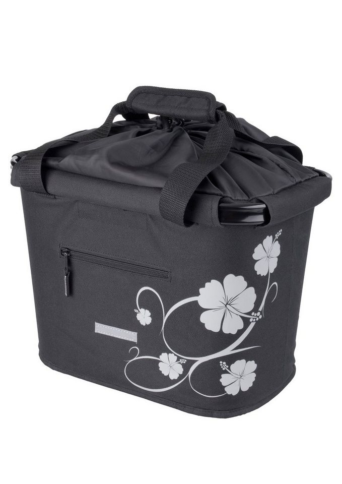 Blue Bird Fahrradtasche für Lenker, »Shopping Bag Hibiskus«