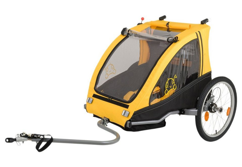 vantly fahrradanh nger kinderanh nger gelb schwarz zweisitzer dual online kaufen otto. Black Bedroom Furniture Sets. Home Design Ideas