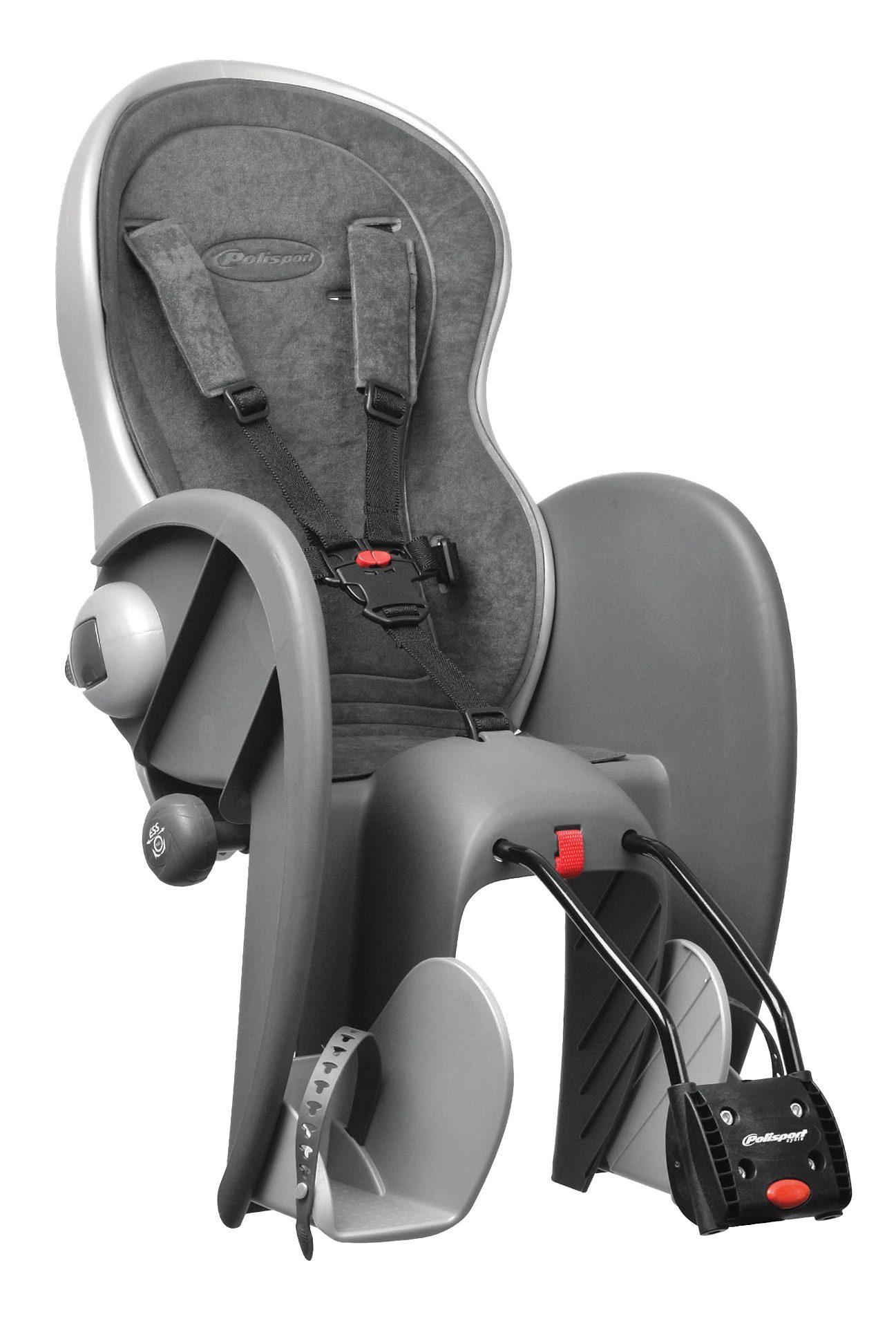 Polisport Fahrrad Kindersitz, grau, »Wallaby Evolution Deluxe«