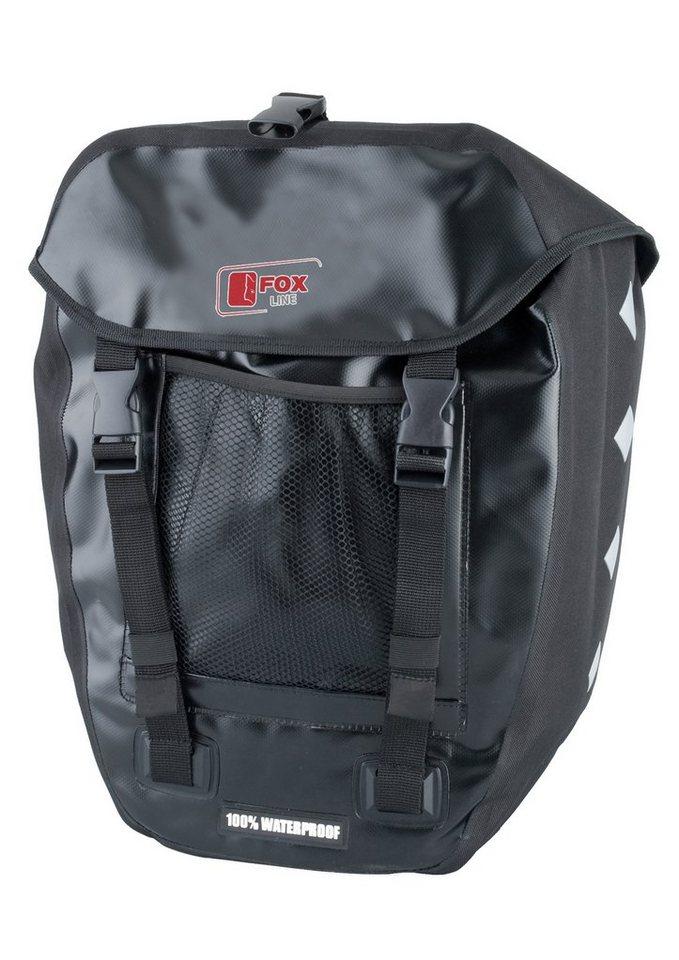 Fox Line Fahrradtasche für Gepäckträger, schwarz