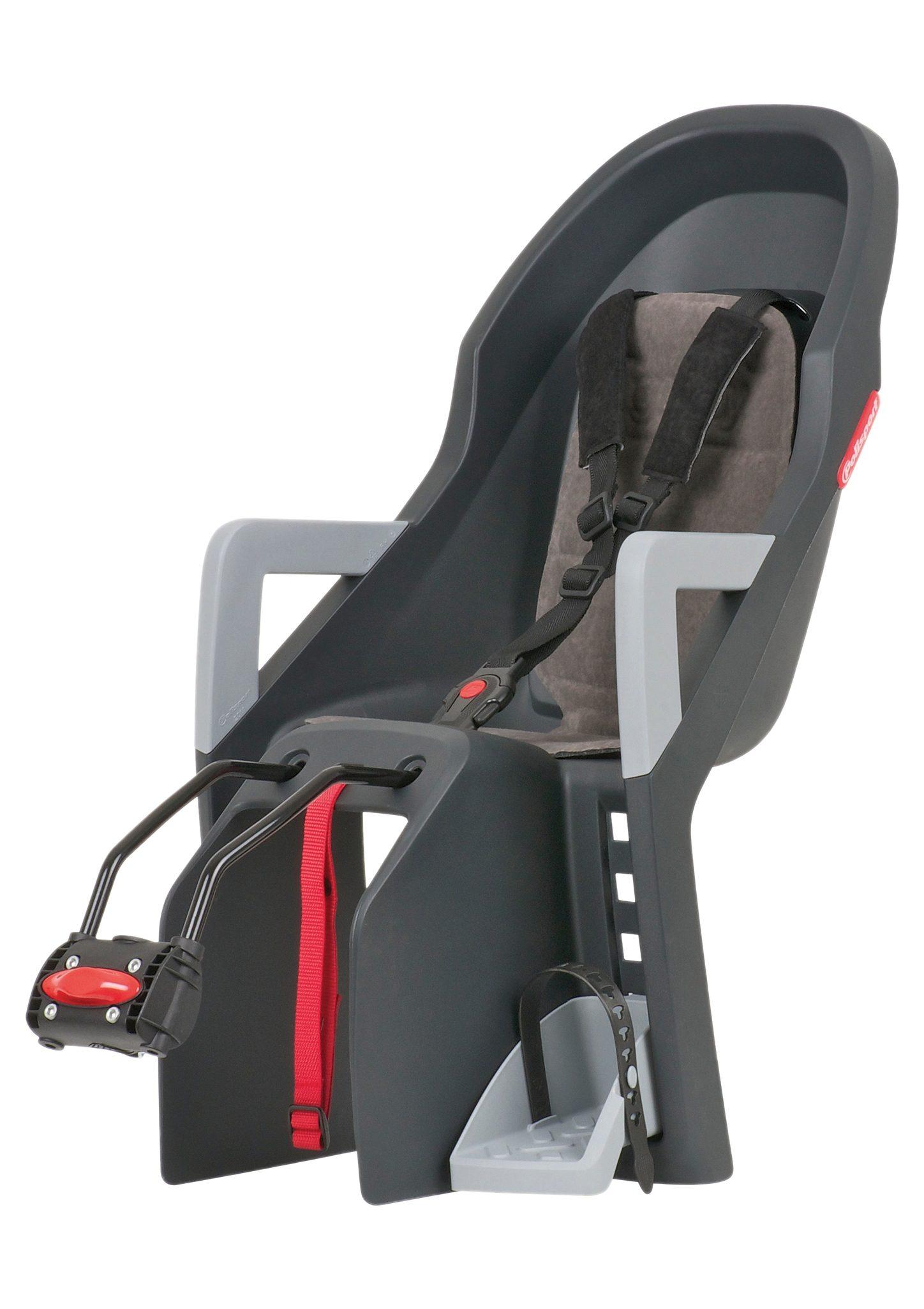 Polisport Fahrrad Kindersitz, dunkelgrau-grau, »Guppy Maxi«