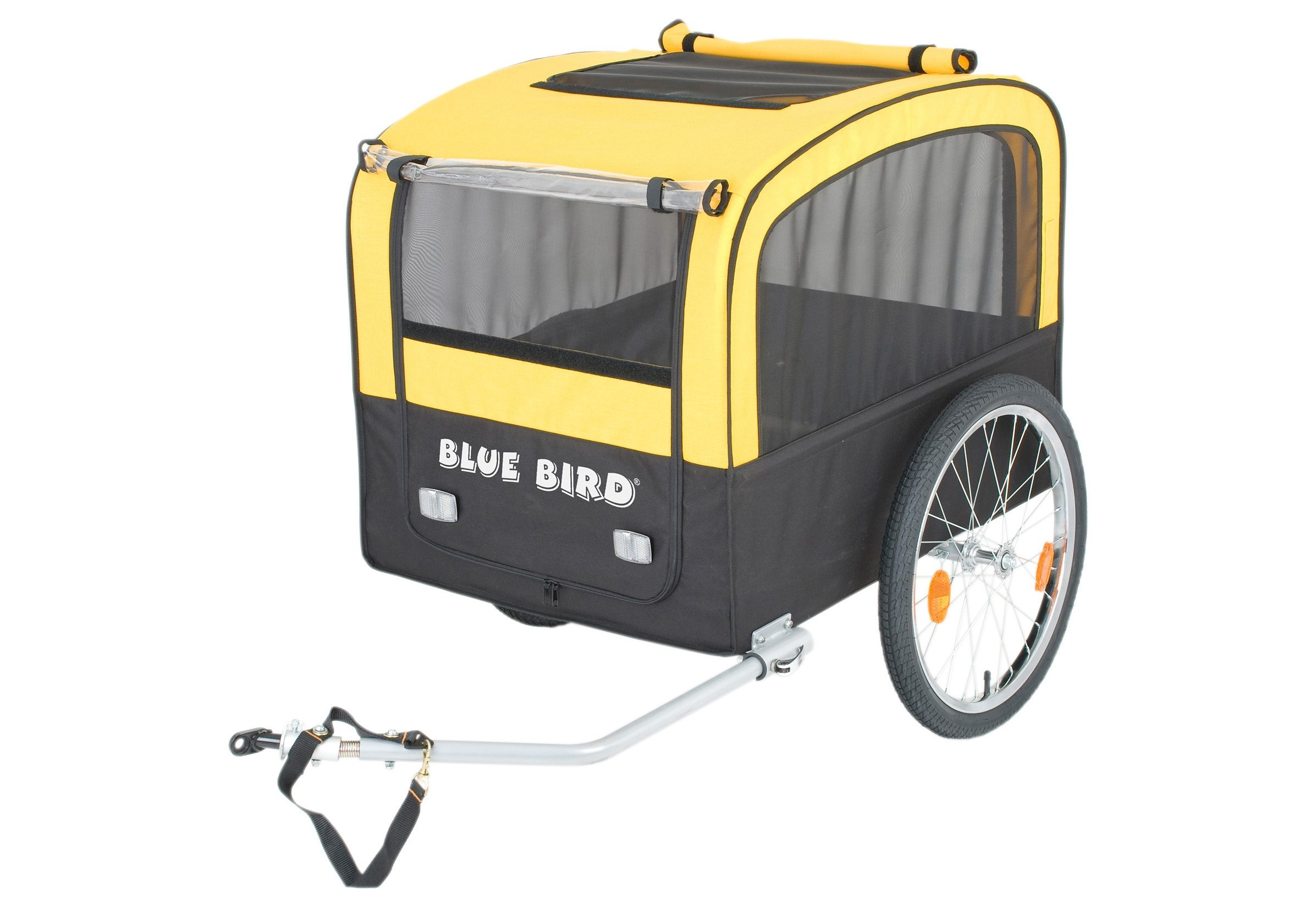 Blue Bird Fahrrad Hundeanhänger, 20 Zoll, gelb-schwarz