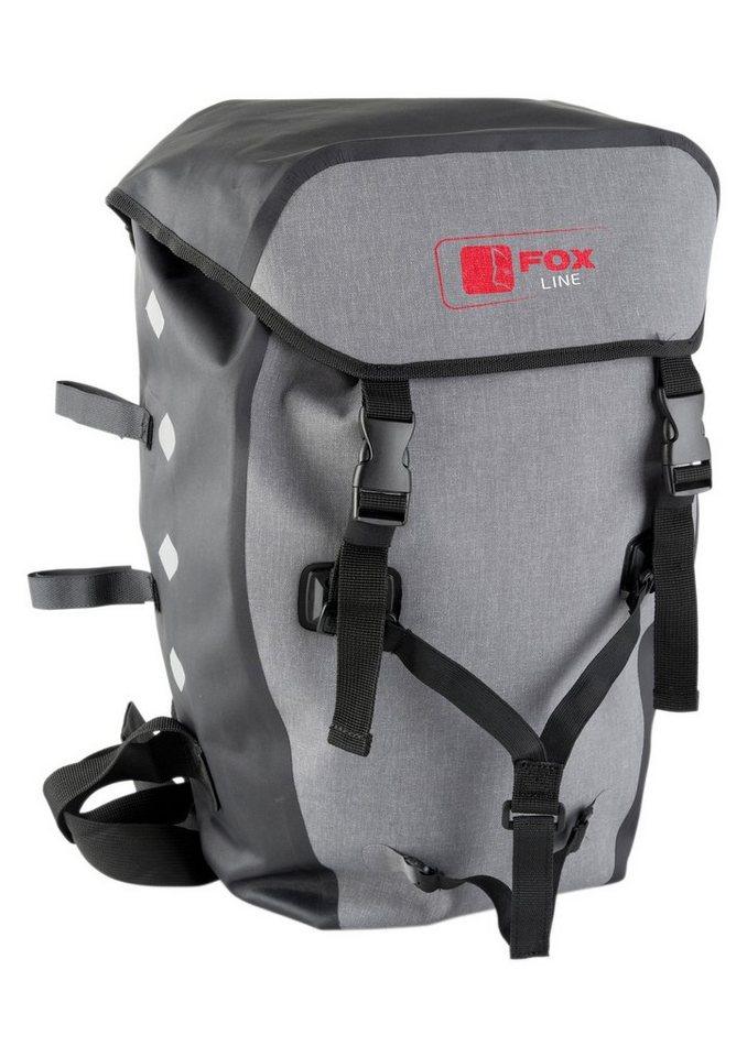 Fox Line Fahrradrucksack für Gepäckträger, schwarz-grau