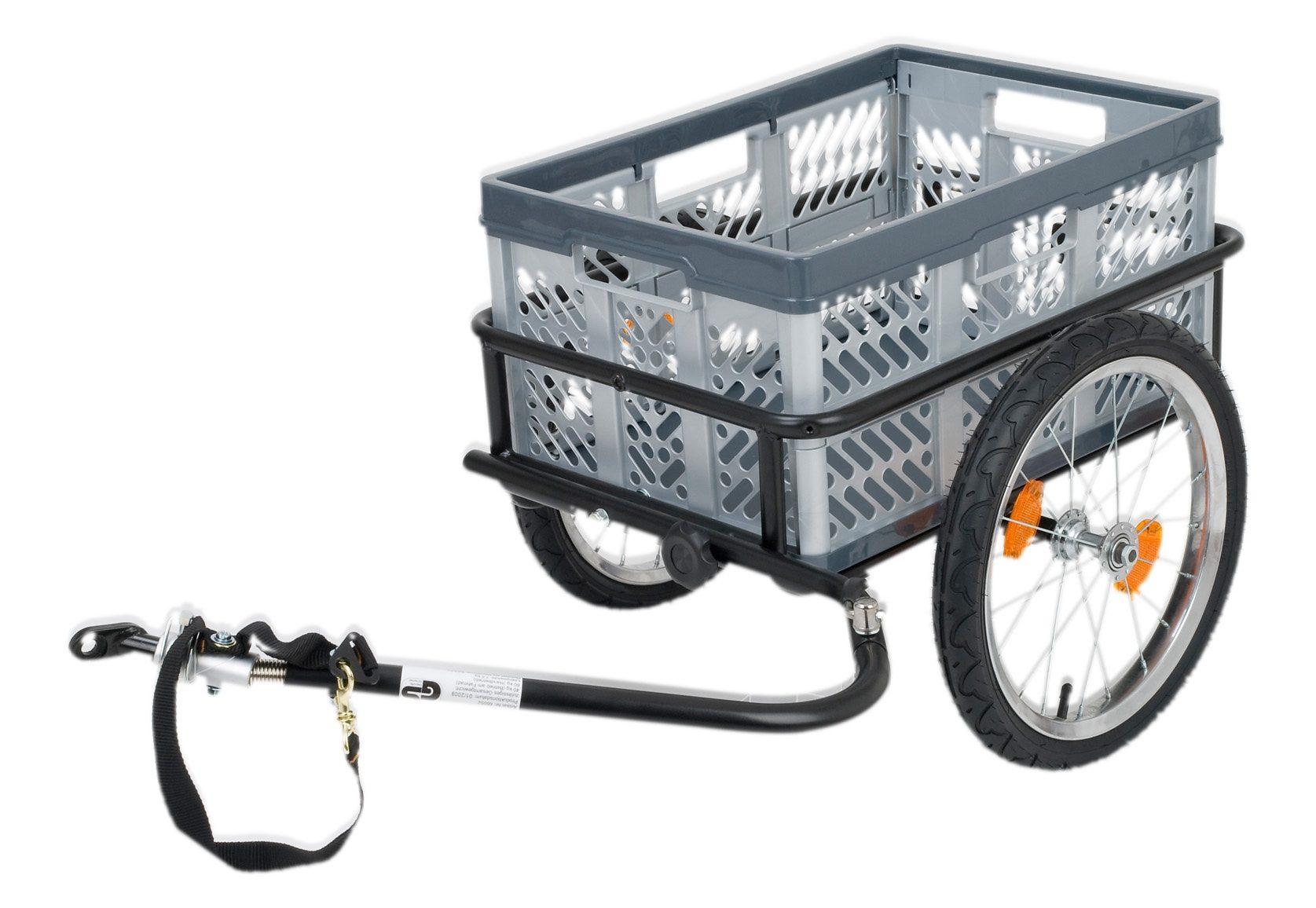 Blue Bird Fahrrad Lastenanhänger, 16 Zoll, grau-schwarz