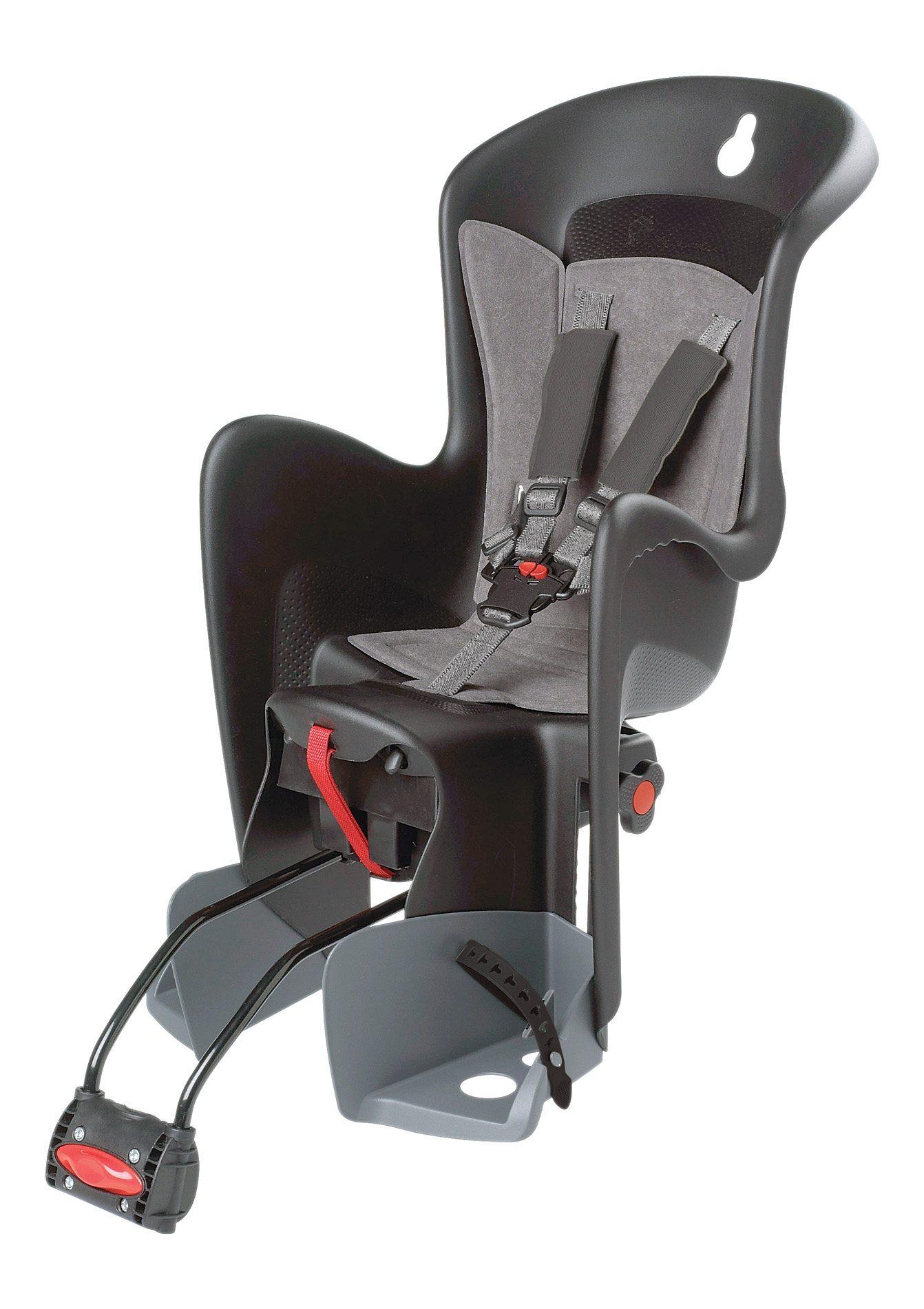 Polisport Fahrrad Kindersitz, schwarz-grau, »Bilby«