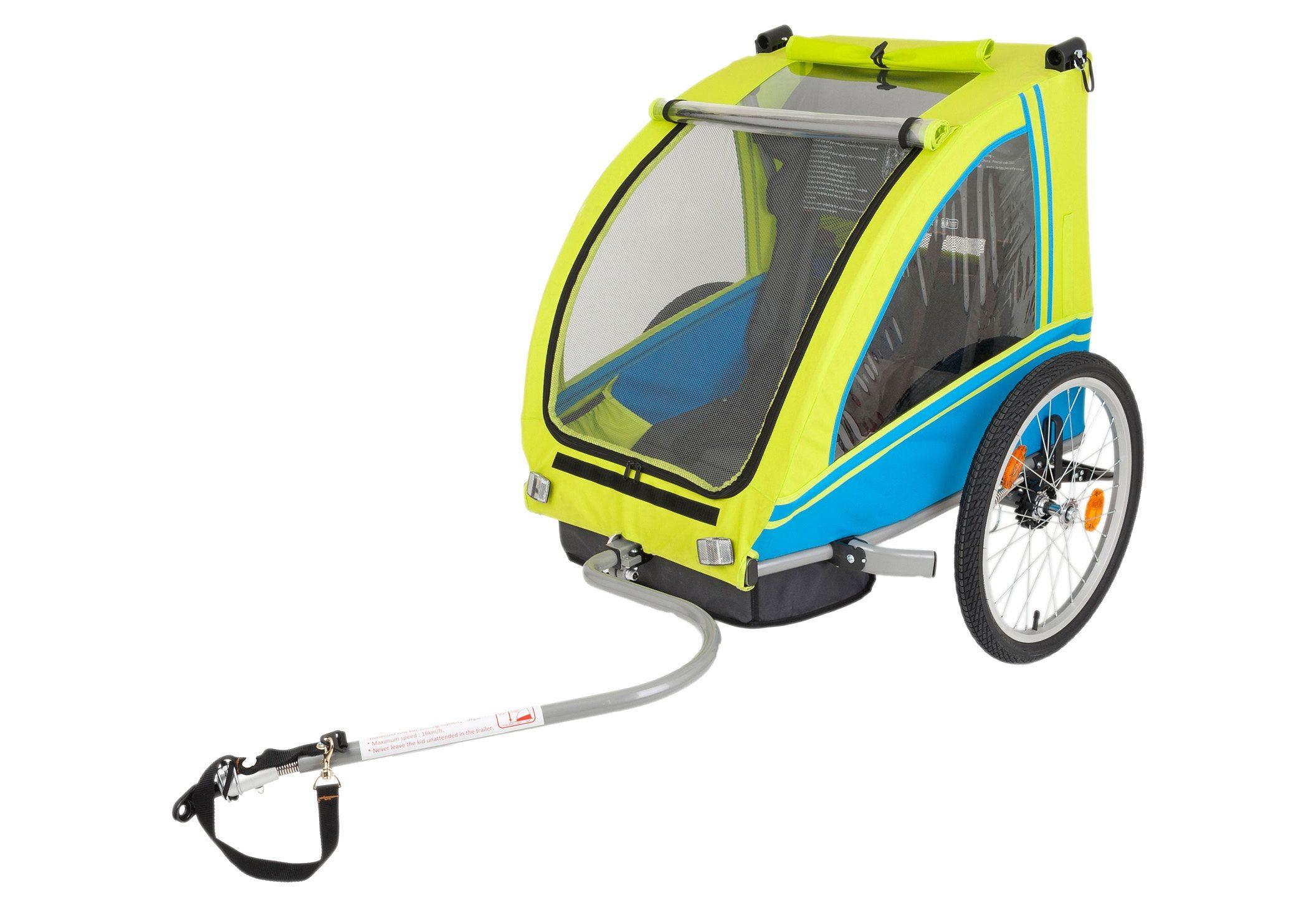 Blue Bird Fahrradanhänger, Kinderanhänger, »Zweisitzer Dual«