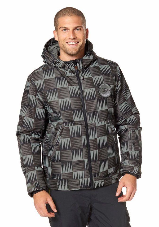 Ocean Sportswear Snowboardjacke in Grau-Khaki