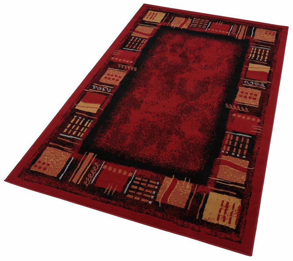 Teppich, Hanse Home, »Nora«,Bordüre Design, gewebt in rot