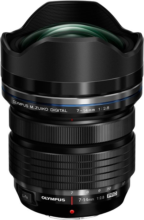 Olympus M.ZUIKO DIGITAL ED 7-14mm 1:2.8 PRO Ultraweitwinkel Objektiv in schwarz