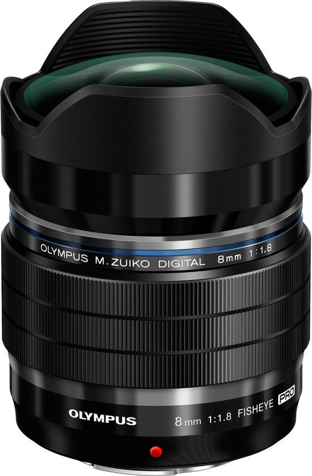 Olympus M.ZUIKO DIGITAL ED 8mm 1:1.8 Fisheye PRO Fisheye Objektiv in schwarz