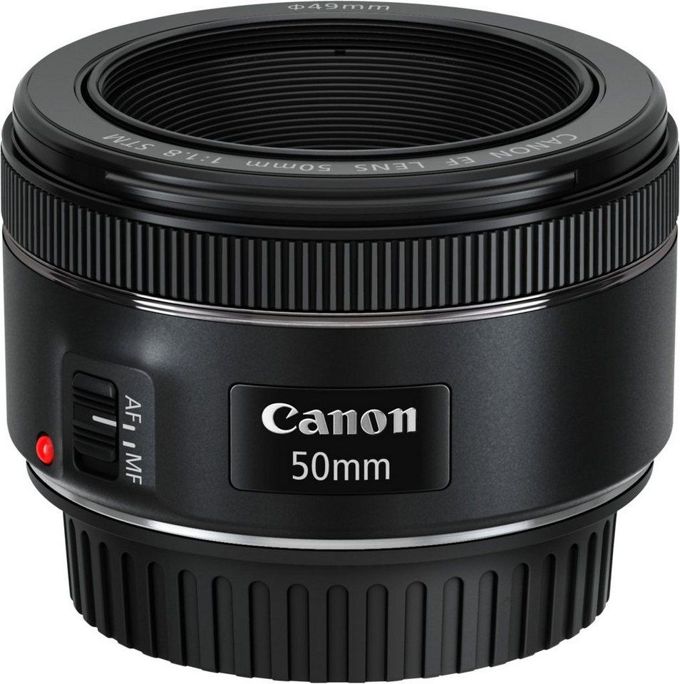 Canon EF 50mm 1:1,8 STM Festbrennweite Objektiv in schwarz
