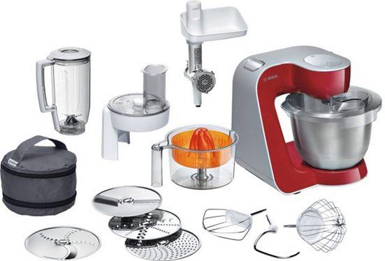 BOSCH Küchenmaschine Styline MUM56740, 900 W, mit Edelstahl-Schüssel, automatischer Kabeleinzug, mit Zubehör im Wert von ca. 111€ UVP