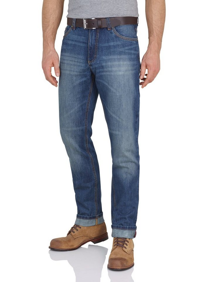 Redpoint 5-Pocket Jeans »Halifax« in medium stone