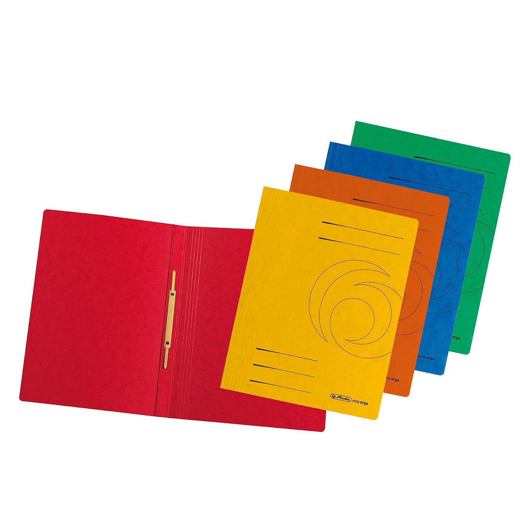 Herlitz Schnellhefter Karton, A4, 2 x 5 Farben, 10 Stück
