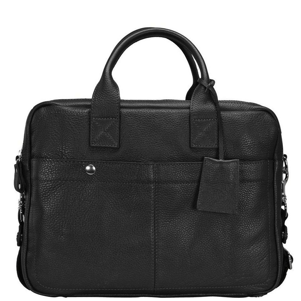 Bugatti Brisbane Aktentasche Leder 40 cm Laptopfach in schwarz