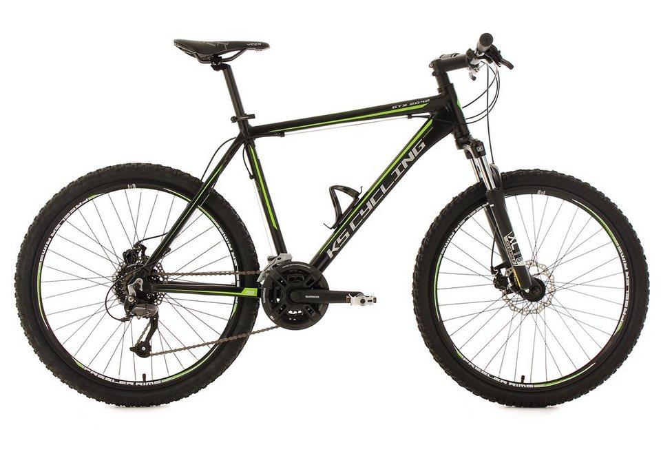 KS Cycling Hardtail-Mountainbike, 26 Zoll, schwarz, 27-Gang-Kettenschaltung, »GTX« in schwarz