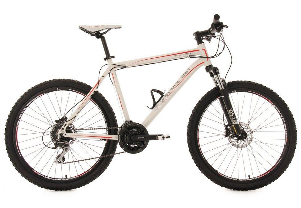 KS Cycling Hardtail-Mountainbike, 26 Zoll, weiß, 24-Gang-Kettenschaltung, »GHX« in weiß