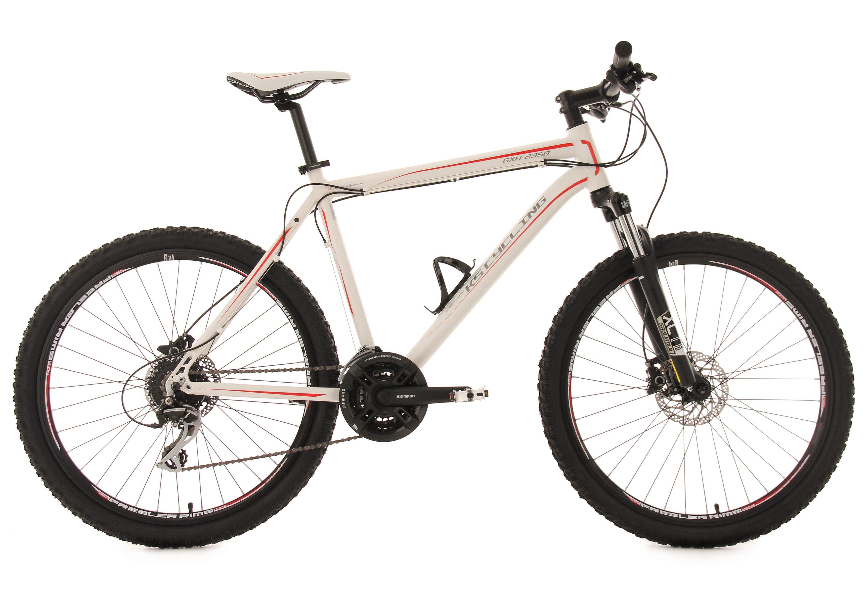 KS Cycling Hardtail-Mountainbike, 26 Zoll, weiß, 24-Gang-Kettenschaltung, »GHX«