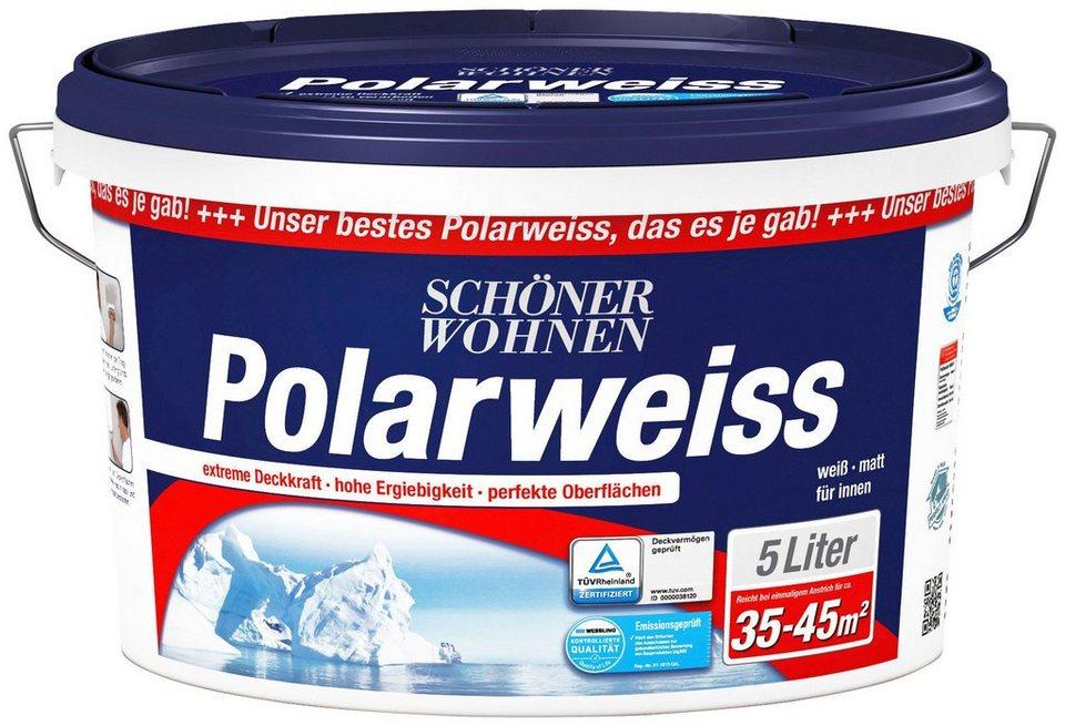 Innenfarbe »Polarweiß 5L scheuerbeständig« in weiß