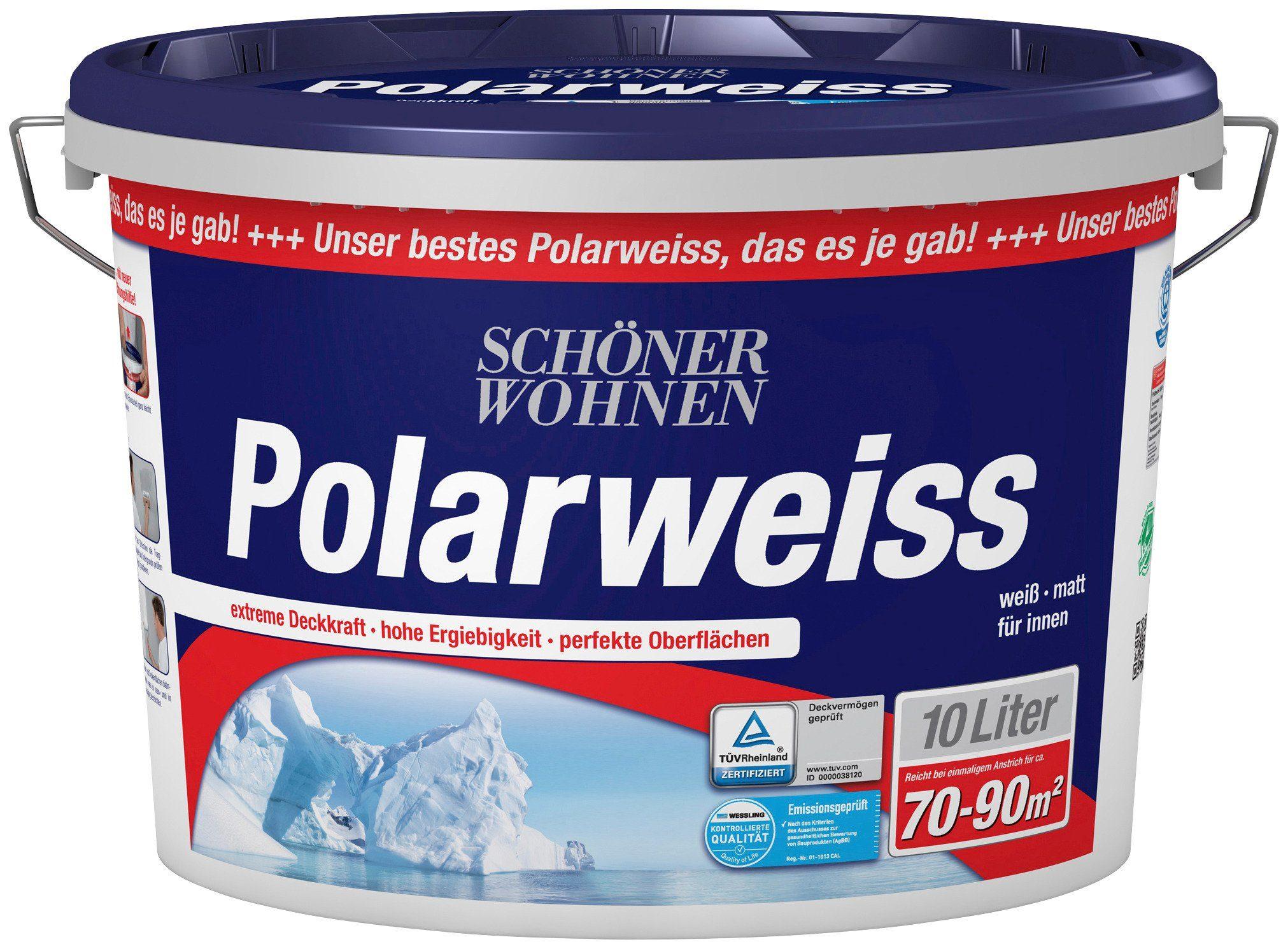 Schöner Wohnen Farbe Innenfarbe »Polarweiß 10L scheuerbeständig«