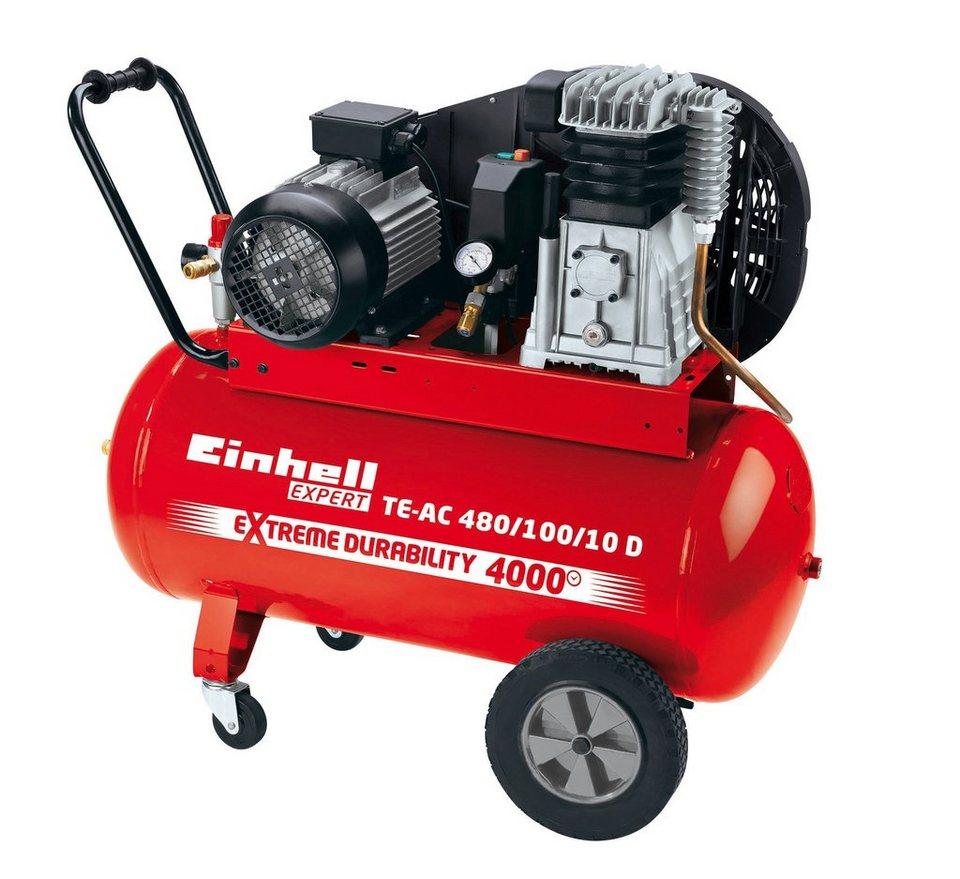 Einhell Kompressor »TE-AC 480/100/10 D« in rot