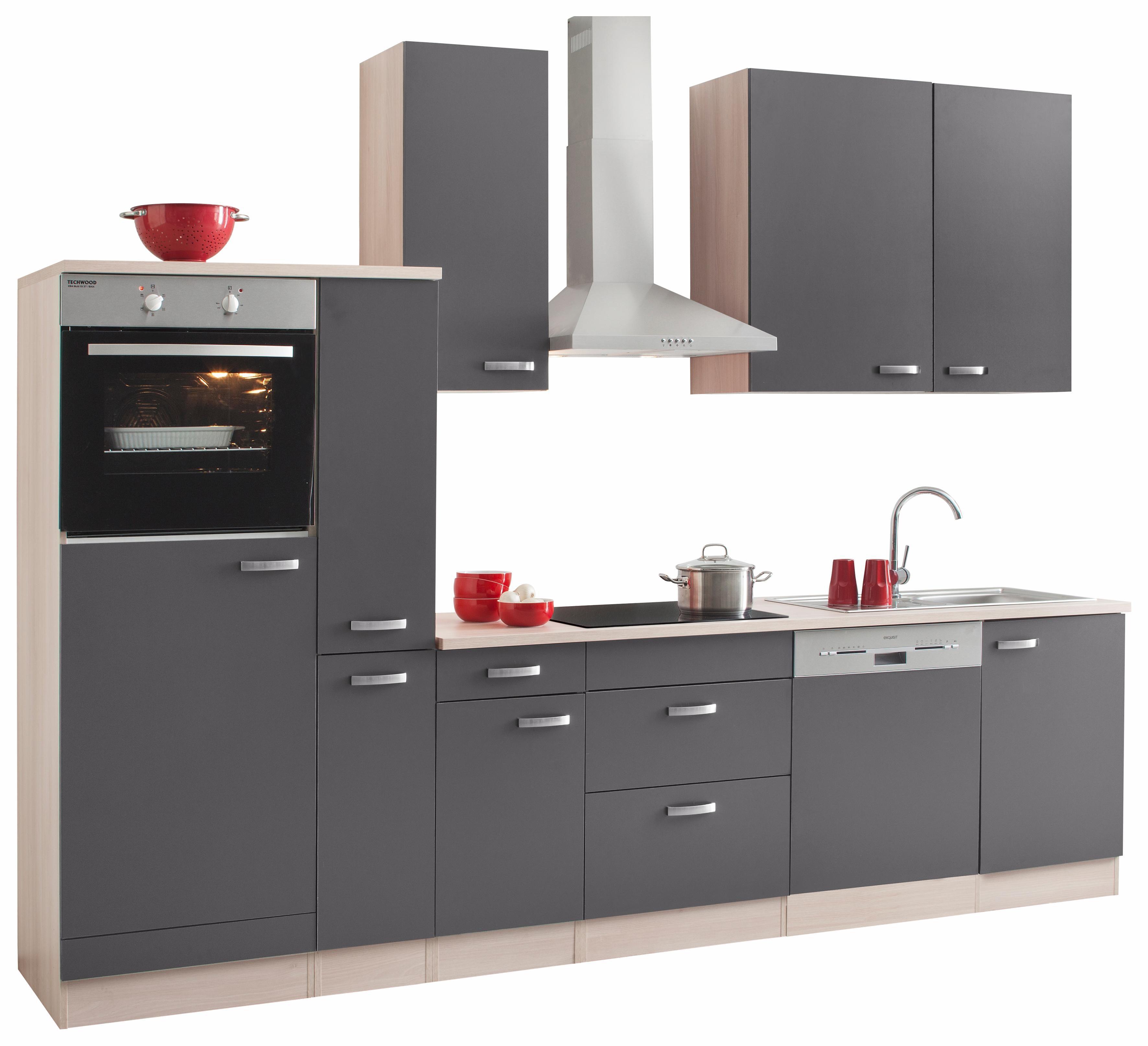 Küchenzeile mit E-Geräten, Optifit, »Faro«, Breite 300 cm online ...
