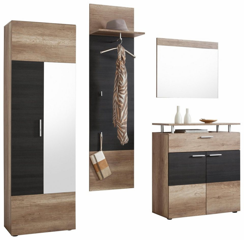 garderoben set polo 4 tlg online kaufen otto. Black Bedroom Furniture Sets. Home Design Ideas